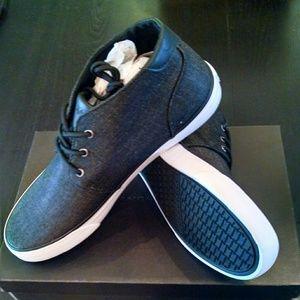 NEW-Andrew Marc Mens Black Sneakers 10